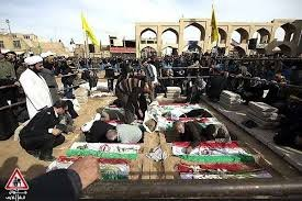 ورود 8 شهید گمنام به حسینیه ایران (میدان امیر چقماق شهر دارالعباده یزد)